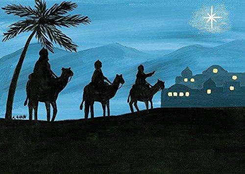 Set of 15 Christmas Cards - Magi