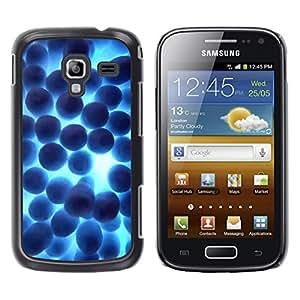 TopCaseStore / la caja del caucho duro de la cubierta de protección de la piel - Random Blue Shine - Samsung Galaxy Ace 2 I8160 Ace II X S7560M