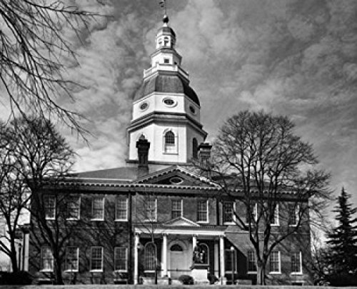 Posterazzi Facade of a Government State Capitol Building Annapolis Maryland USA Poster Print (18 x 24)