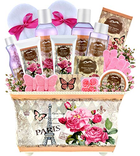 Home Spa Gift Baskets for Women-Deluxe Bath Basket Spa Set Gardener Gift Baskets-Purelis Natural Spa Baskets for Women Gift The #1 Care Packages for Women! Womens Home Spa Bath & Body Works Lotion Set ()