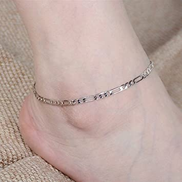 jewellery indian and chains rubies real leg pair emeralds karat with in womens gold anklets jewelry anklet