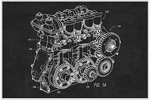 Nascar, Engine, Car, Blueprint Patent, Patent Poster, Blueprint Poster, Art, Gift, Poster Print, Patent Poster (Paper Nascar)