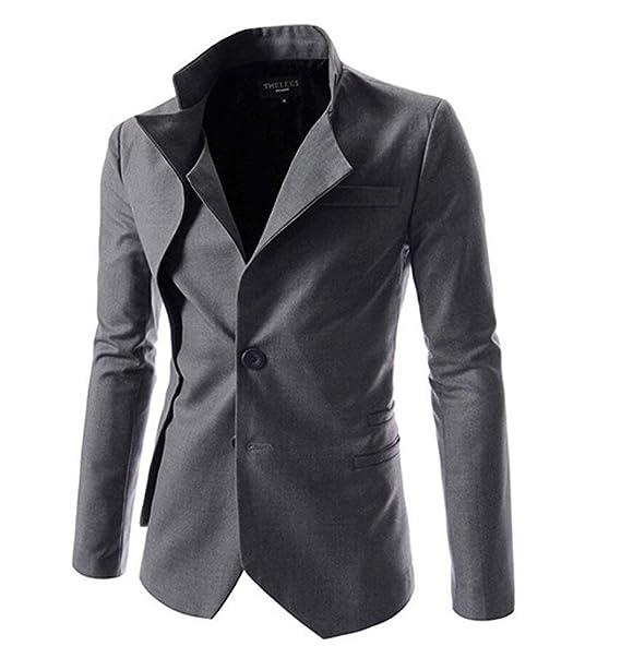 Traje De La Chaqueta De Los Hombres Blazer Recorte Dos Clásico Stand Collar Coat Prendas De Vestir Exteriores Traje De Otoño Chaquetas Moda para Hombres ...