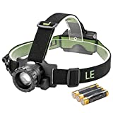 LE Zoomable 3 Modes Headlamp CREE LED Headlight