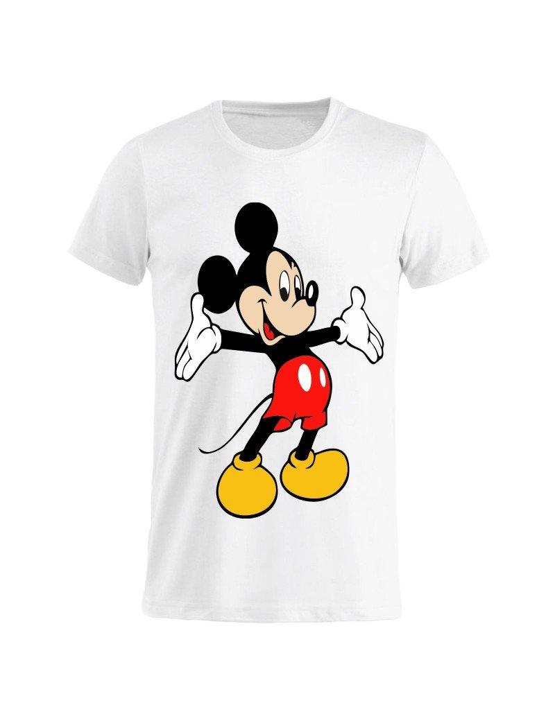 Topolino abbraciatutti GR97 Bianca Cartoni Animati Idea Regalo 0 Anni Tuttoinunclick T-Shirt Uomo Donna Bambino
