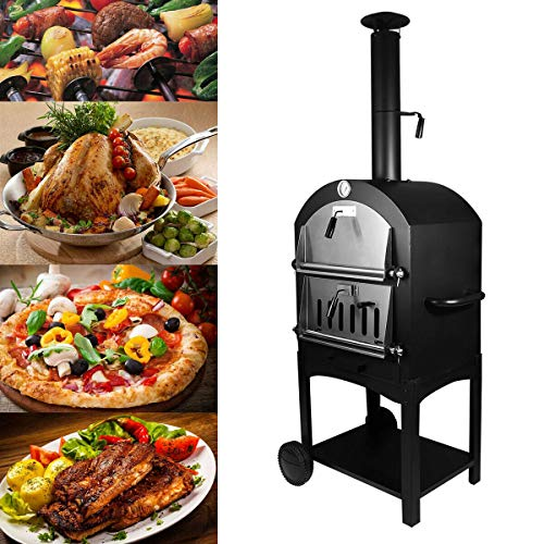 Tengchang Outdoor Pizza Oven Wood Fire DIY Portable Family Camping Cooker (Best Wood Burning Oven)