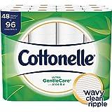 Cottonelle Ultra GentleCare Toilet Paper, 48 Double Rolls, Sensitive Bath Tissue with Aloe & Vitamin E