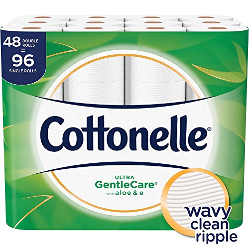 Cottonelle Ultra GentleCare Toilet Paper, Aloe & Vitamin E, 48 Double Rolls ()