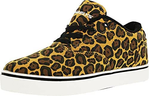 Heelys Unisex Launch Tan/Brown/Leopard Ankle-High Synthetic Fashion Sneaker - 9M / 8M