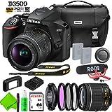 Nikon D3500 DSLR Camera with 18-55mm Lens Video Kit Bundle