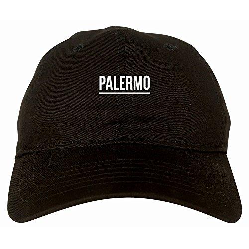 (Kings Of NY City Of Palermo Simple Underline 6 Panel Dad Hat Cap Black)