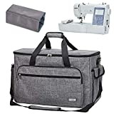 HOMEST Embroidery and Sewing Machine Carrying Case, Universal Tote Bag with Shoulder Strap for Brother PE800, SE1900, SE600, PE535, Multifunctional - Large Capacity, Grey (Patent Design) (Color: Grey)