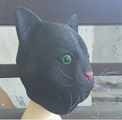 Halloween Cute Cosplay Black cat Head Mask Performance Fashion Dance Props Costume Lovely Party Quality ()
