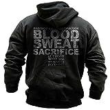 Grunt, Blood Sweat Sacrifice Dark Grey Hoodie (L)