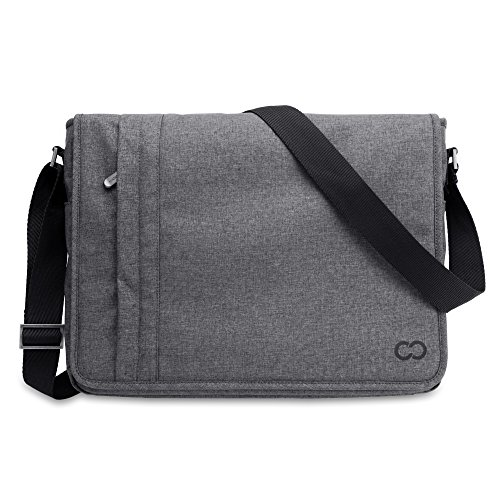 "Price comparison product image Casecrown MacBook Pro / Air 13"" CaseCrown Campus Horizontal Messenger Bag, Charcoal Gray(CC-MI-4869C)"