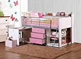 Savannah Loft Bed with Storage and Work Desk