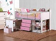 Savannah Loft Bed with Storage and Work Desk