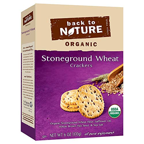 Back To Nature, Organic Stoneground Wheat Crackers, 6 oz.