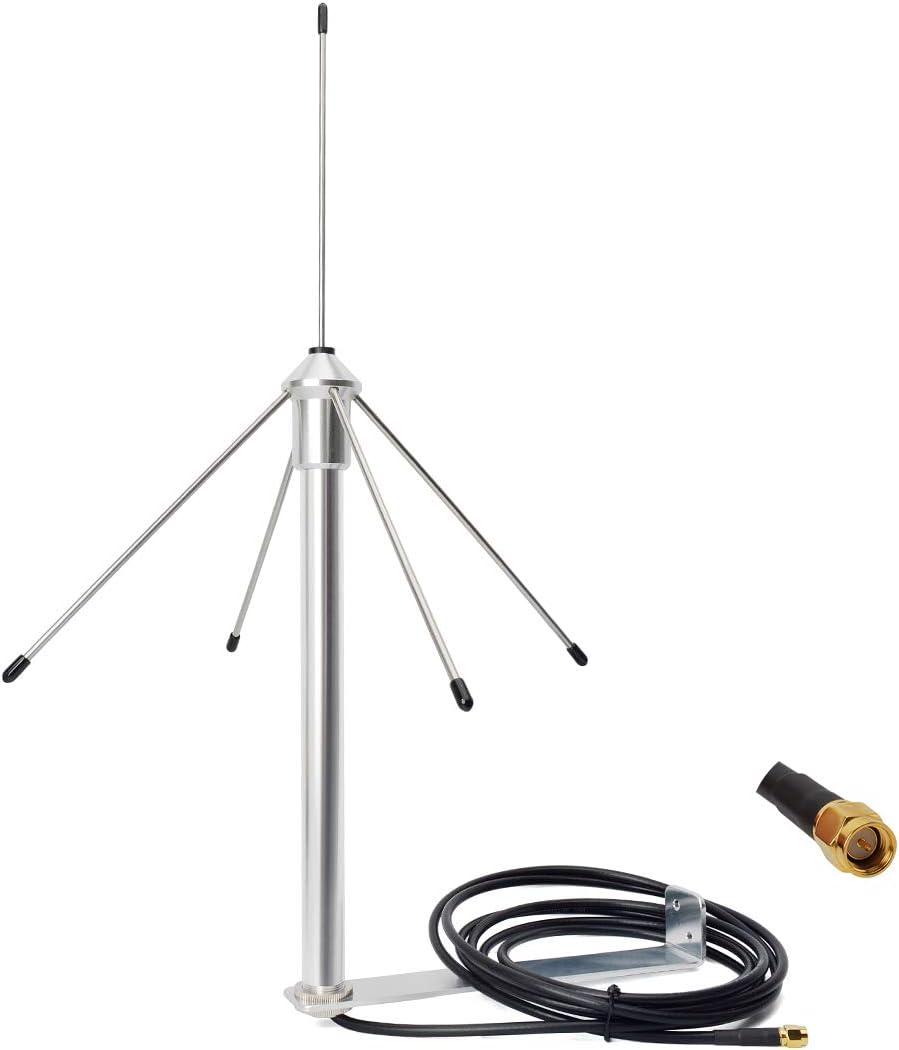 HYS 433 Mhz 3dbi Omni-Antenne 50 Ohm GSM-Antenne con 3M (9,8 pies) RG58-Koaxialkabel SMA macho y Montagehalterung
