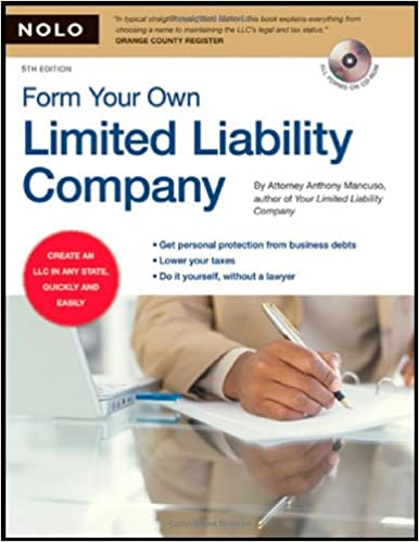 Form Your Own Limited Liability Company Book With Cd Rom Anthony