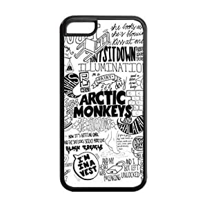 5C Phone Cases, Arctic Monkeys Hard TPU Rubber Cover Case for iPhone 5C