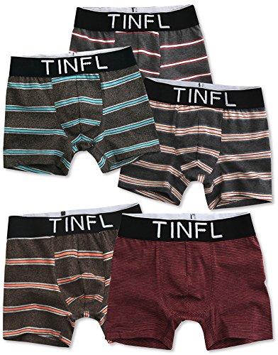 TINFL Big Boys Boxer Briefs 5-Pack Underwear Set TD-004 - 004 Td
