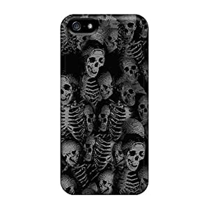 New Design Shatterproof VNm6556TsIy Cases For Iphone 5/5s (umk3 Skulls Blk)