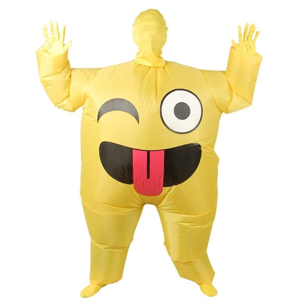 C JZG Aufblasbares Gesicht Emoji Kostüm Für Erwachsene Cosplay Kleidung Funny Smile Cry Face Ganzkörper Purim Karneval Halloween Party Kostüme (Farbe   C)