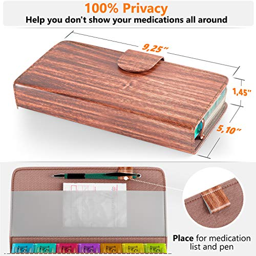 0abff005b7ea Pill Case Organizer for Home Travel - Weekly Pill Container - Import ...
