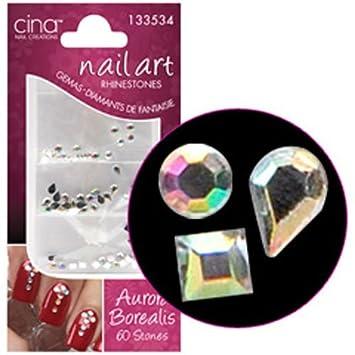 Amazon Cinapro Nail Creations Aurora Borealis Crystal 60ct Beauty