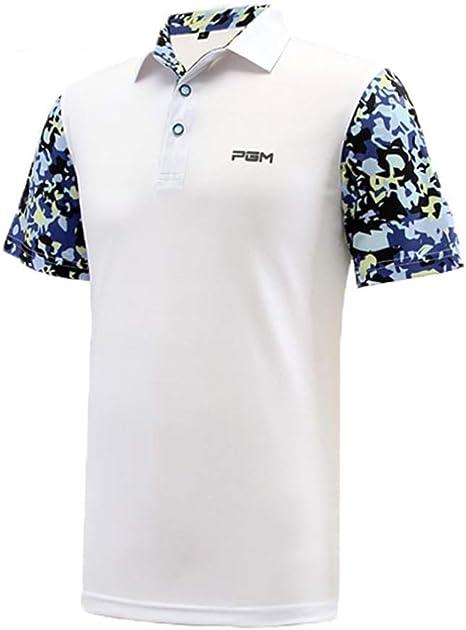 WHARMSS Polo Golf Camisas Hombre Verano Manga Corta Splice Tenis ...