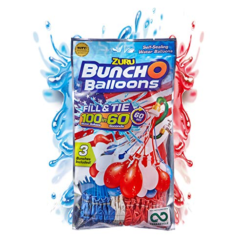 🥇 Bunch O Balloons 100 Rapid-Filling Self-Sealing Water Red