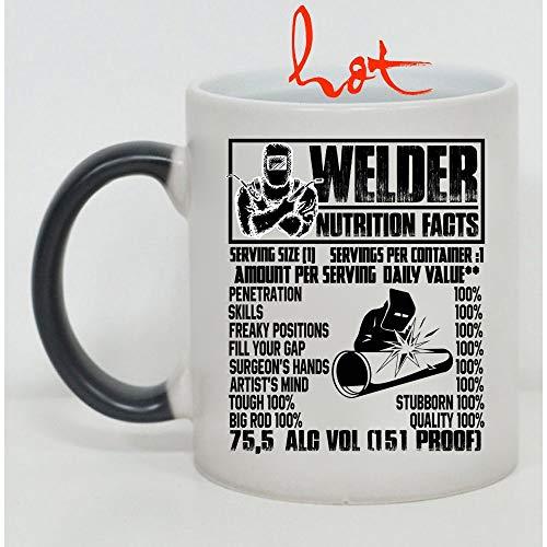 Welder Cup, Welder Nutrition Facts Change color mug (Color Changing Mug) ()