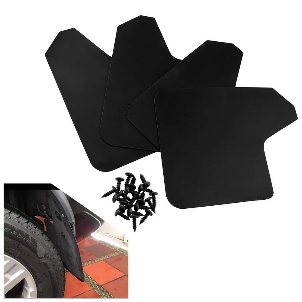 TOOGOO 4Pcs Universal Mud Flaps for Car Pickup Van Truck Mudflaps Mudguards Splash Guards with Screw