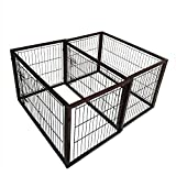 Simply Plus Dog Crate [2017Newly Designed Model], Solid Wooden Frame+ Metal w/Divider & Tray-Medium(40″ x 25.8″ x 26.7″) For Sale