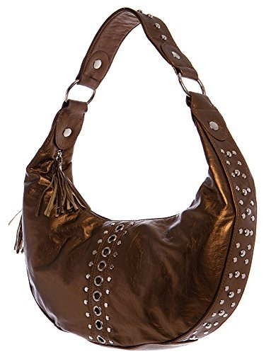 Hobo Bag for All by Handbags Glam Brown Gold 5OW8q8d