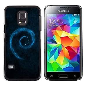 LECELL -- Funda protectora / Cubierta / Piel For Samsung Galaxy S5 Mini, SM-G800, NOT S5 REGULAR! -- Blue Swirl --