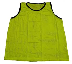 Amazon.com : Workoutz Youth Yellow Soccer Pinnies (Set of