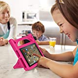 Lmaytech Cute Kids Case for Fire HD 8 - Lmaytech Light Weight Shock Proof Handle Friendly Convertible Stand Kids Case for Fire HD 8 inch Display Tablet (Fire HD 8 Case, pink)