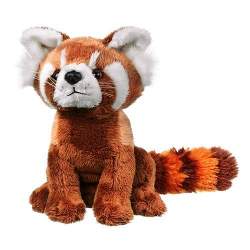 Wildlife Artists Panda Plush Toy, Red - Endangered Species Panda Bear