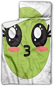 "Ahuimin Microfiber Nap Mat with Pillow for Toddler Boys and Girls, Kawaii,Anime Eyes Cartoon, 43"" x 21"" Perfect Size for Daycare and Preschool"