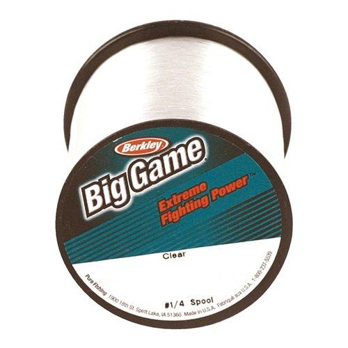 Berkley Big Game ¼ lb Custom Spools - Clear -15 lb. test