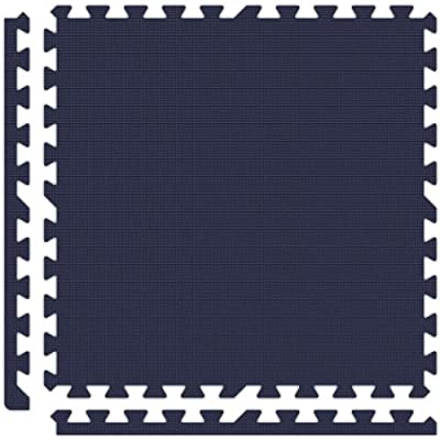 Alessco SFNB0606 Premium Softfloors Tile Set, 6' x 6', Navy Blue