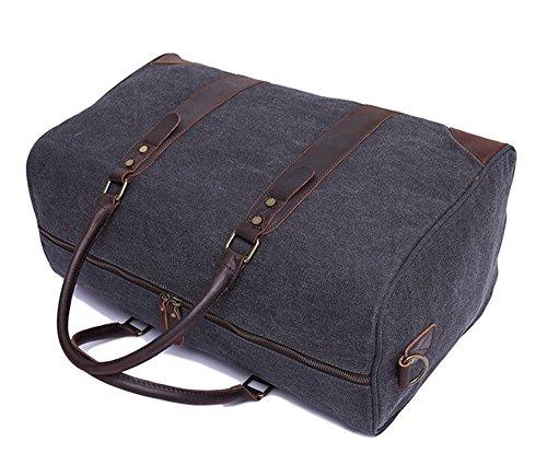 Bolsos de hombres Xinmaoyuan lienzo con gran capacidad de estilo retro transversal Diagonal portátil bolsas de viaje Bolso masculino,verde Gris oscuro