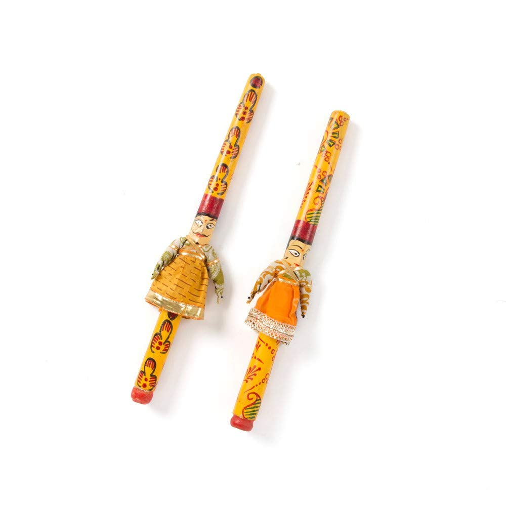 Raja Rani Couple Dandiya Sticks for Garba
