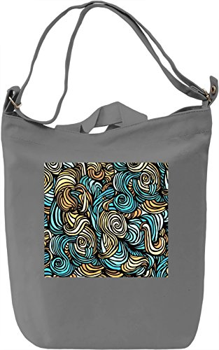 Color lines Full Print Borsa Giornaliera Canvas Canvas Day Bag| 100% Premium Cotton Canvas| DTG Printing|