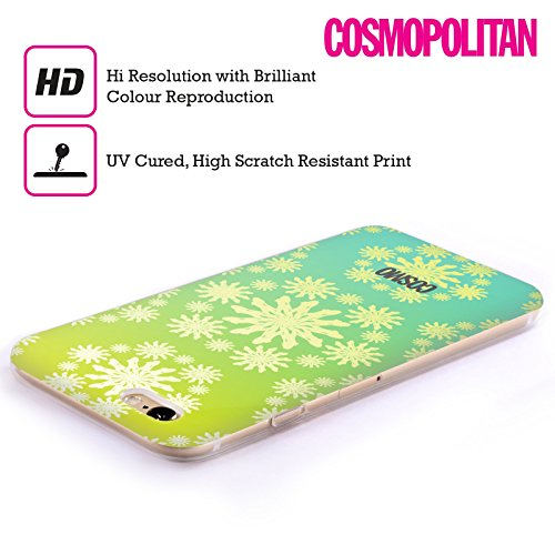 Official Cosmopolitan Ombre 1 Floral Patterns Soft Gel Case for Apple iPhone 6 Plus / 6s Plus