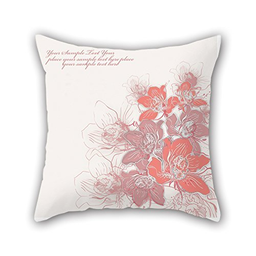 KooNicee 18 X 18 Inches / 45 By 45 Cm Flower Throw Pillow Covers ,double Sides Ornament And Gift To Couch,club,birthday,kids - Bridge Table Standard Size
