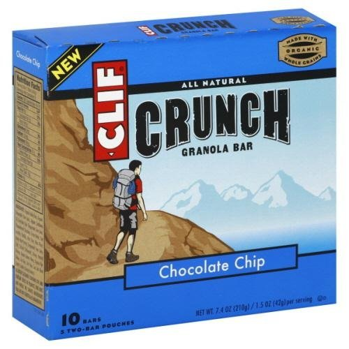 Clif Crunch Chocolate Chip Bar, 7.4 Ounce -- 12 per case.