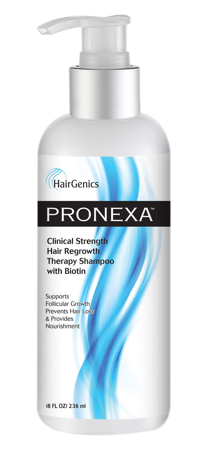 Hairgenics Pronexa Clinical Strength Hair Growth & Regrowth Therapy Hair Loss Shampoo With Biotin, Collagen, and DHT Blockers for Thinning Hair. Sulfate Free & Color Safe. 8 fl. oz. by Pronexa